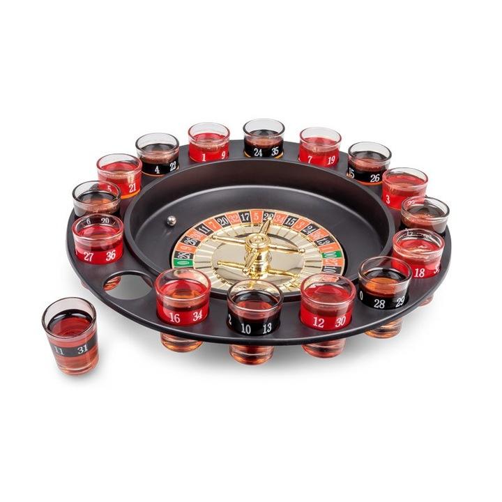 Žaidimas ruletė su stikliukais