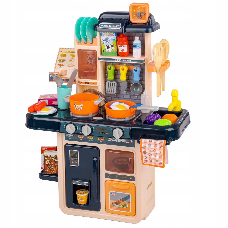 Interaktyvi virtuvėlė su šaldytuvu ir 42 vnt. priedų