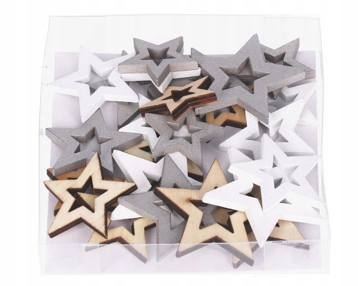 Kalėdinės dekoracijos – Žvaigždutės 24 vnt.