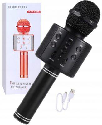 """Belaidis """"Karaoke"""" mikrofonas (juodas)"""
