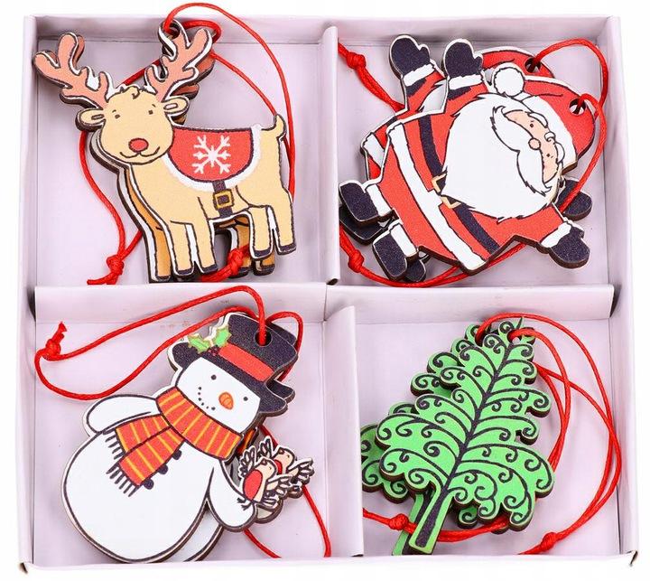 Įvairių kalėdinių žaisliukų rinkinys – 8 vnt.