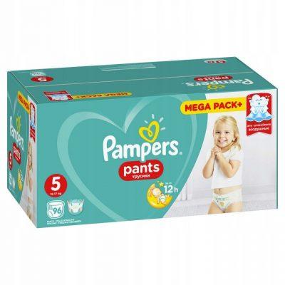 Sauskelnės PAMPERS PANTS  5 (12-17 kg), 96 vnt.