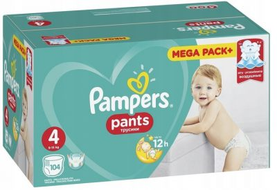 Sauskelnės PAMPERS PANTS 4 (9-15 kg), 104 vnt.