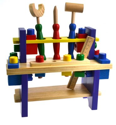 Vaikiškas medinių įrankių rinkinys