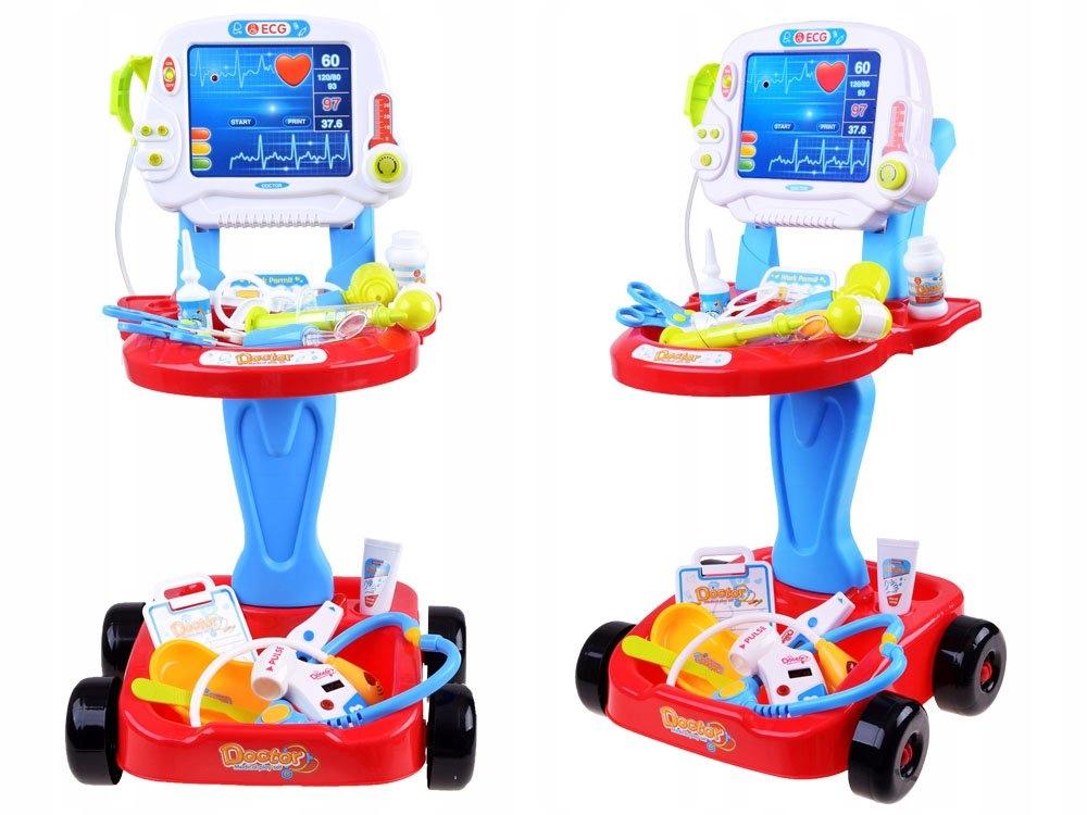 Vaikiškas gydytojo rinkinys su vežimėliu