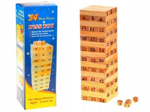 JENGA medinis stalo žaidimas
