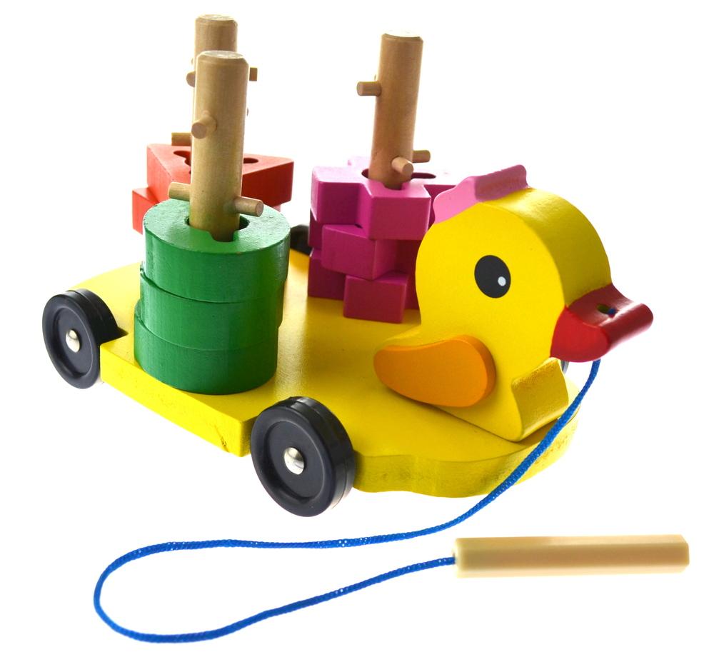 Žaislas – medinė dėlionė Antis