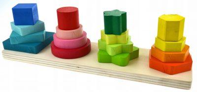 Žaislas – medinė dėlionė Bokštai
