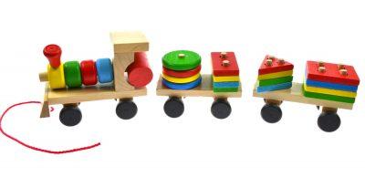 Žaislas – medinė dėlionė Traukinys
