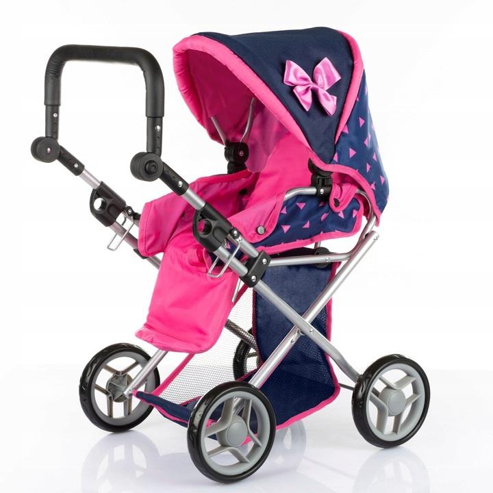 Didelis daugiafunkcinis lėlės vežimėlis 3in1