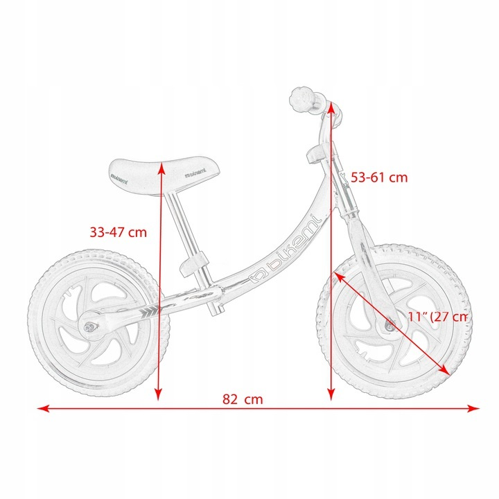 Balansinis dviratis BikeMi juodas/rožinis
