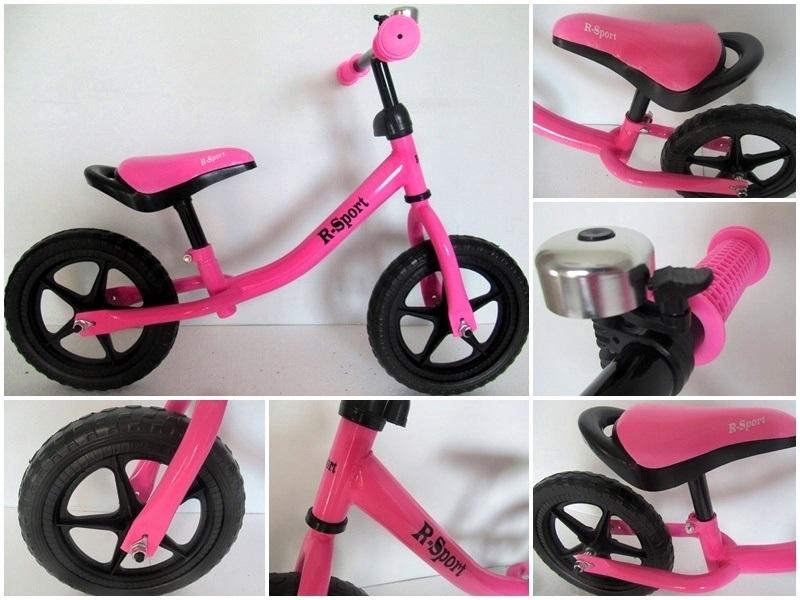 Mergaitiškas balansinis dviratukas R-Sport R1 (rožinis)