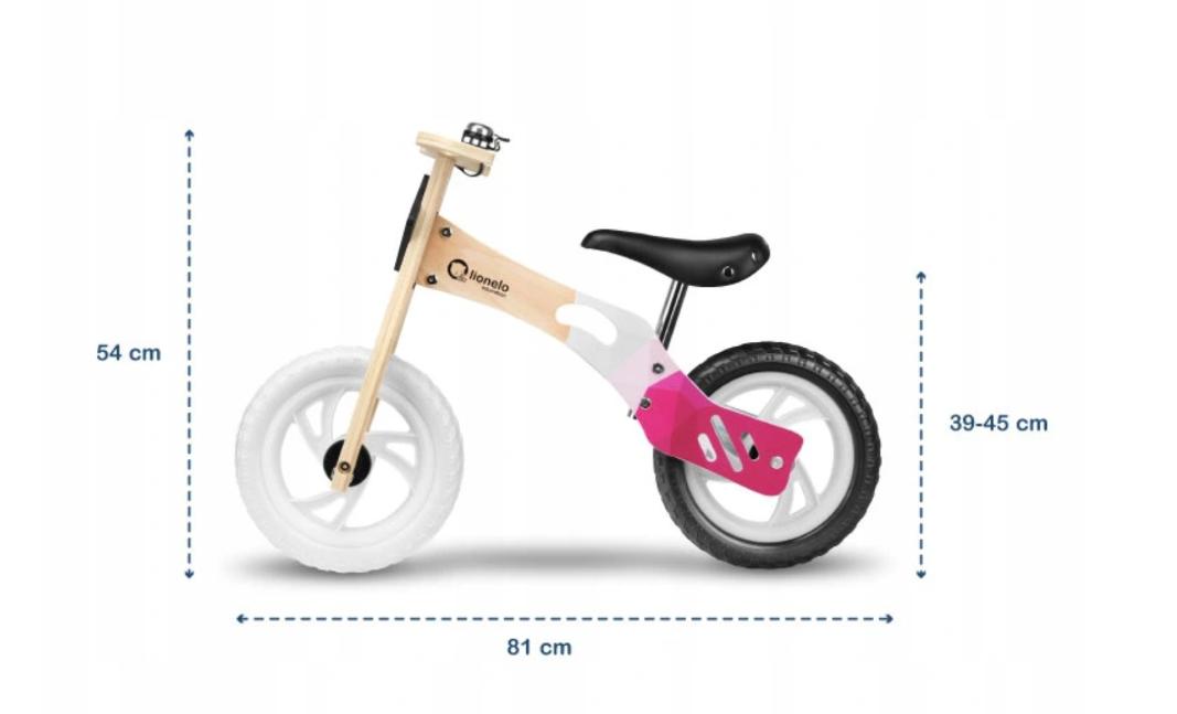"Balansinis dviratukas LIONELO WILLY EVA 12"" mergaitei"