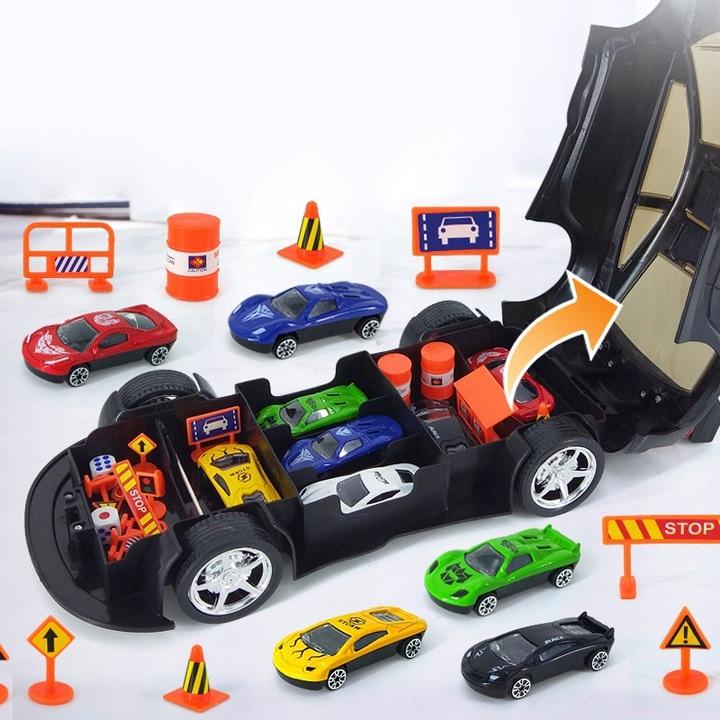 Žaislinė policijos mašina su priedais