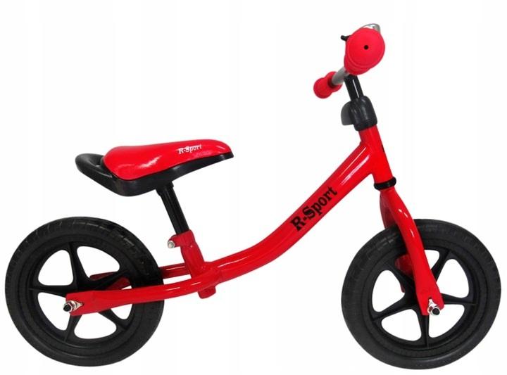 Mergaitiškas balansinis dviratukas R-Sport R1 (raudonas)
