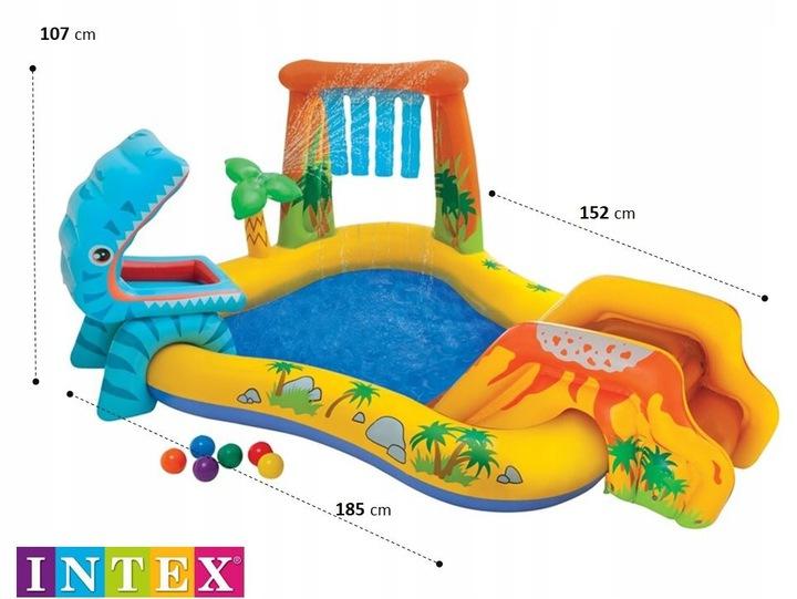 Intex vaikiškas baseinas Dinozauras
