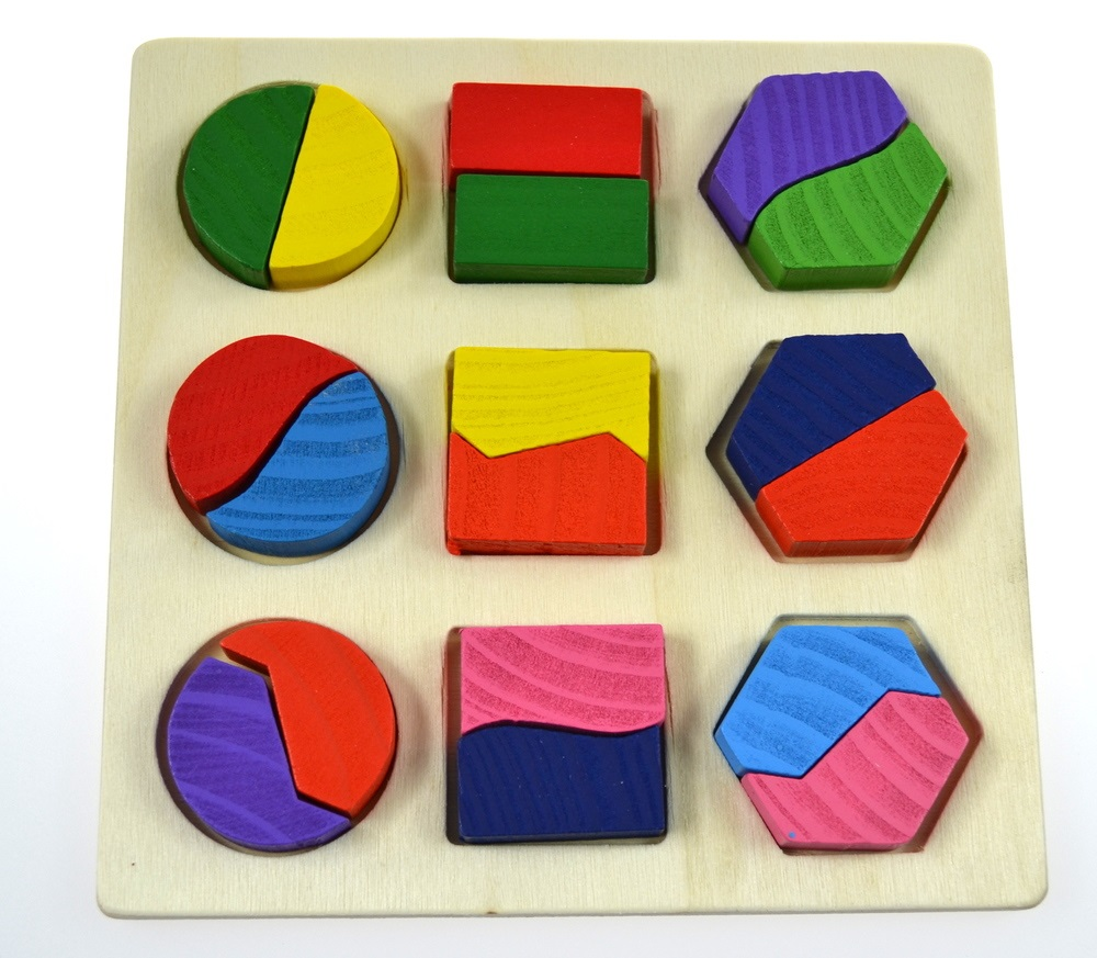 Medinė dėlionė Geometrija